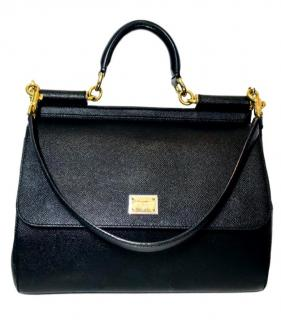 Dolce & Gabbana Sicily bag in Dauphine leather.