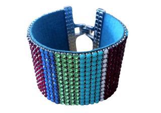 Swarovski Mutli-Coloured Crystal Cuff