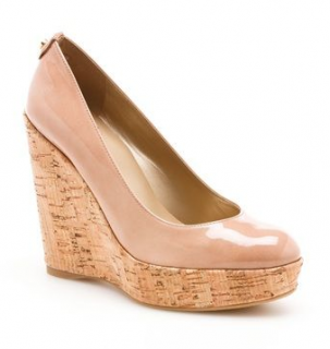 Stuart Weitzman Corkswoon Nude Patent Wedges - Worn by Kate Middleton