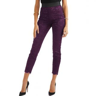 Dolce & Gabbana Purple Lace Pants