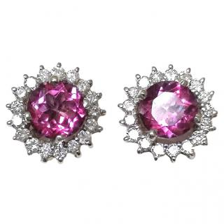 Bespoke Tourmaline & Diamond-encrusted stud earrings