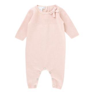 Oscar et Valentine Girls 3M Pink Cashmere Babygrow
