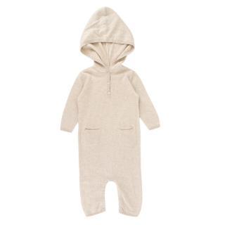Bonpoint Baby 6M Beige Cashmere & Silk Baby Grow
