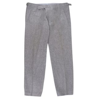 Bespoke Grey Tailored Suit Trousers