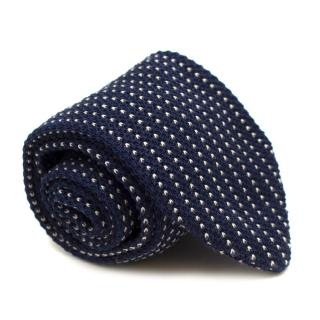 Sartoria Rossi Blue Knitted Cotton Tie