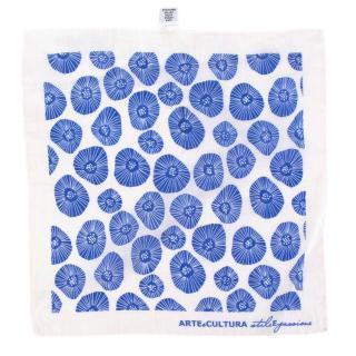 Arte e Cultura White Floral Print Pocket Square