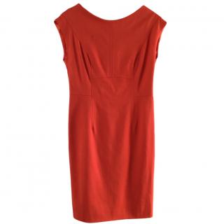 Escada Red V-Back Dress