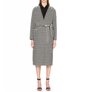 Max Mara Striped Wool And Angora Coat