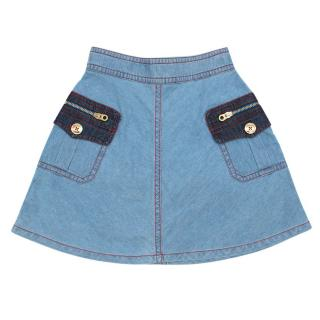 Little Marc Jabobs Girls 6Y Denim Skirt