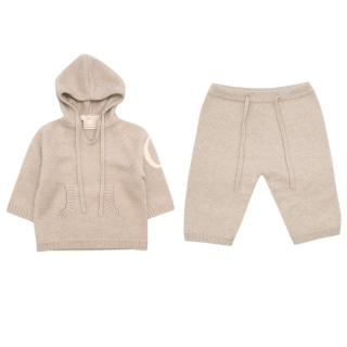 Ovale Cashmere Brown Baby 3M Jumper and Trouser Set