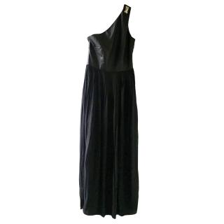 Raoul Silk & Leather One Shoulder Gown