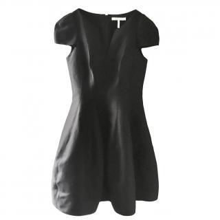 Halston Heritage Black Structured Mini Dress