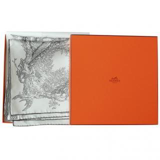 Hermes Jardins Des Metamorphoses Silk Scarf 90