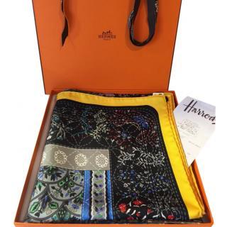 Hermes Pique Fleuri de Provence Silk Scarf 90