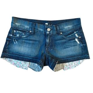 7 For All Mankind Distressed Denim Shorts