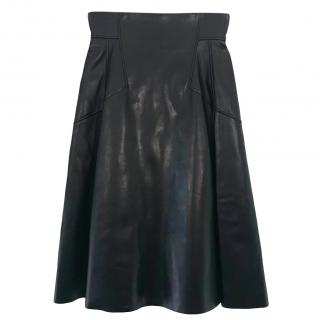 Alexander McQueen leather A-line skirt