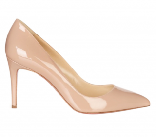 Christian Louboutin Patent Nude Pigalle Follies 85