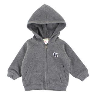 Bonpoint Cotton Baby 6M Grey Hoodie