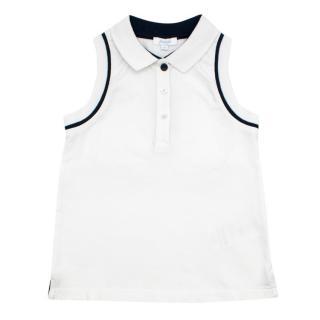 Jacadi Girl's 4 Years Sleeveless Polo Shirt