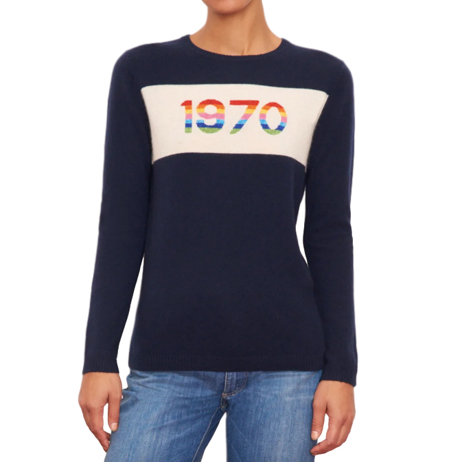 Bella Freud Navy 1970 Jumper