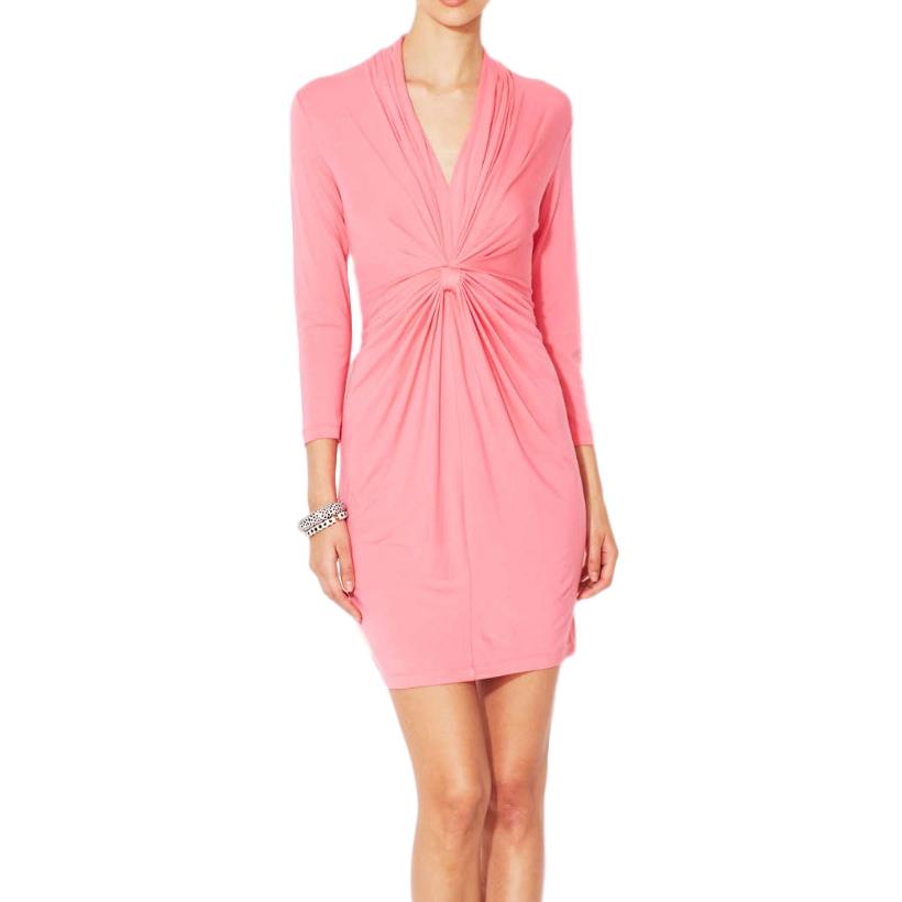 Catherine Malandrino jersey pink gathered dress