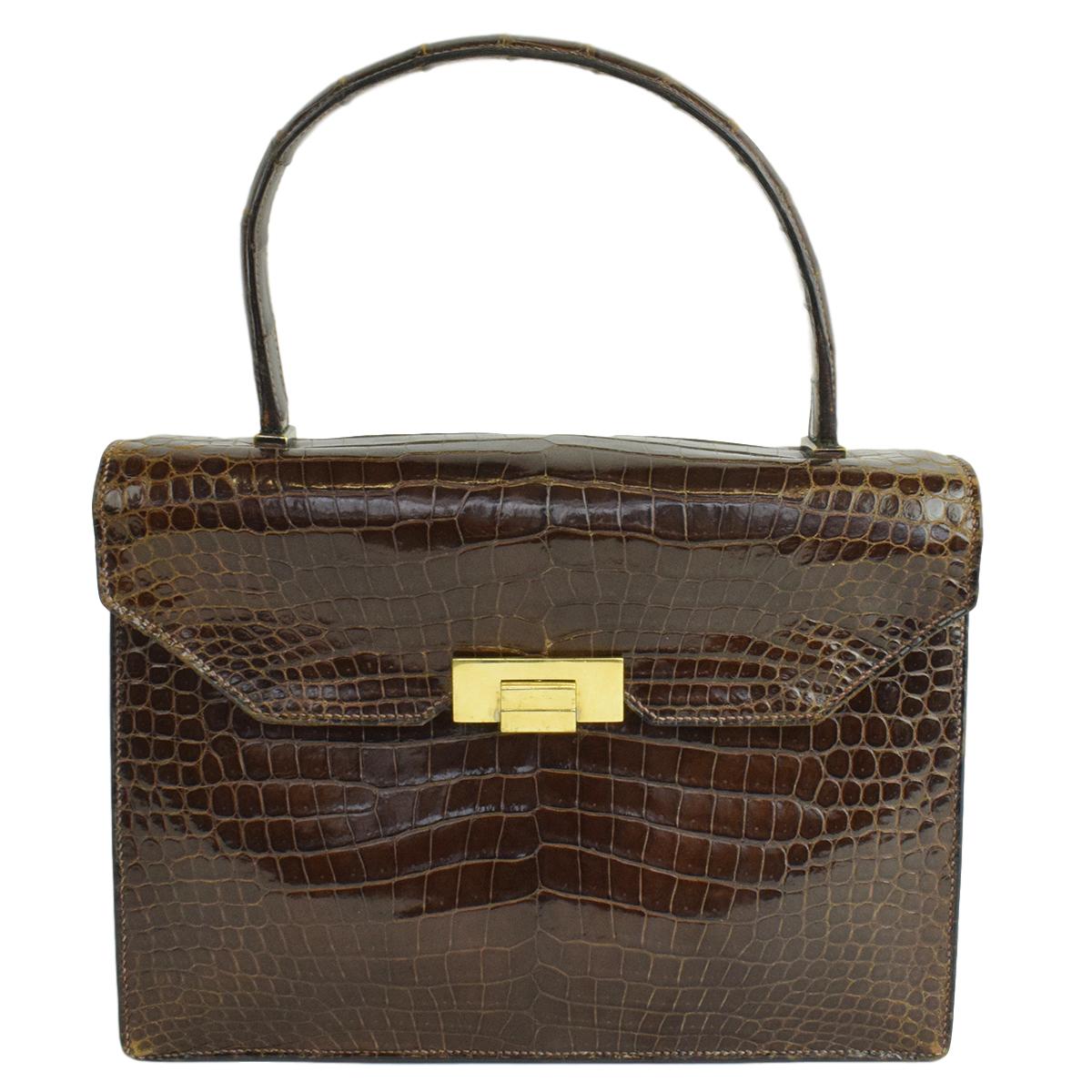 Hermes Vintage Crocodile Top Handle Bag