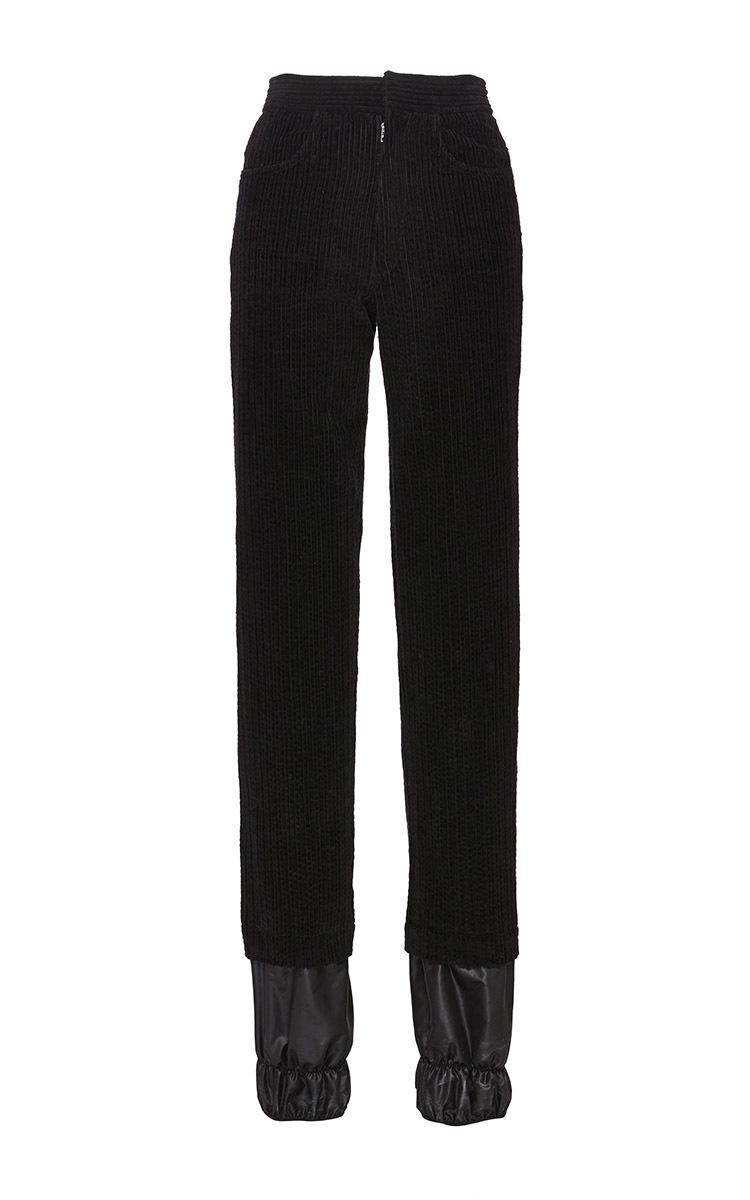 JW Anderson Black Corduroy Ski Trousers