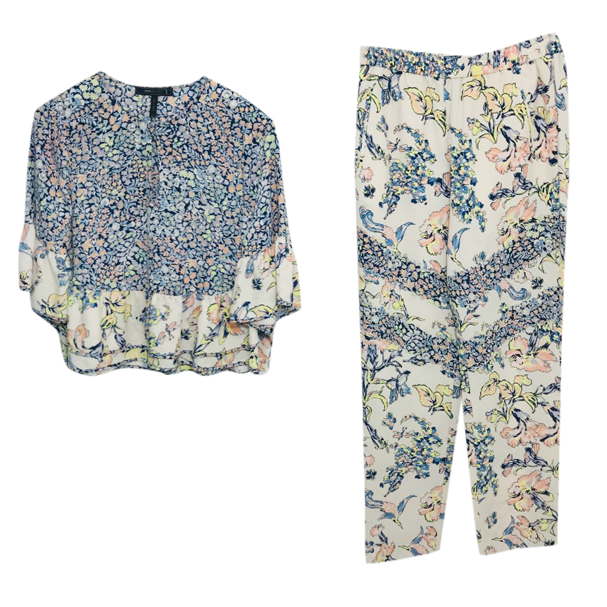 BCBG Max Azria Floral Top & Trousers