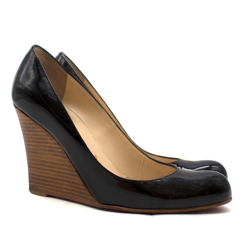 Patent Leather Wedge Pumps | HEWI