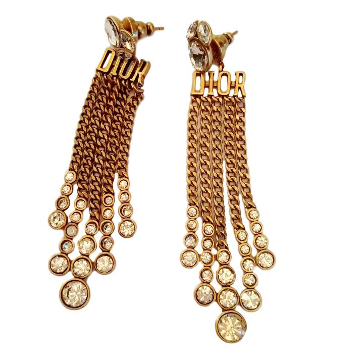 Dior Dio(r)evolution Chain Drop Earrings