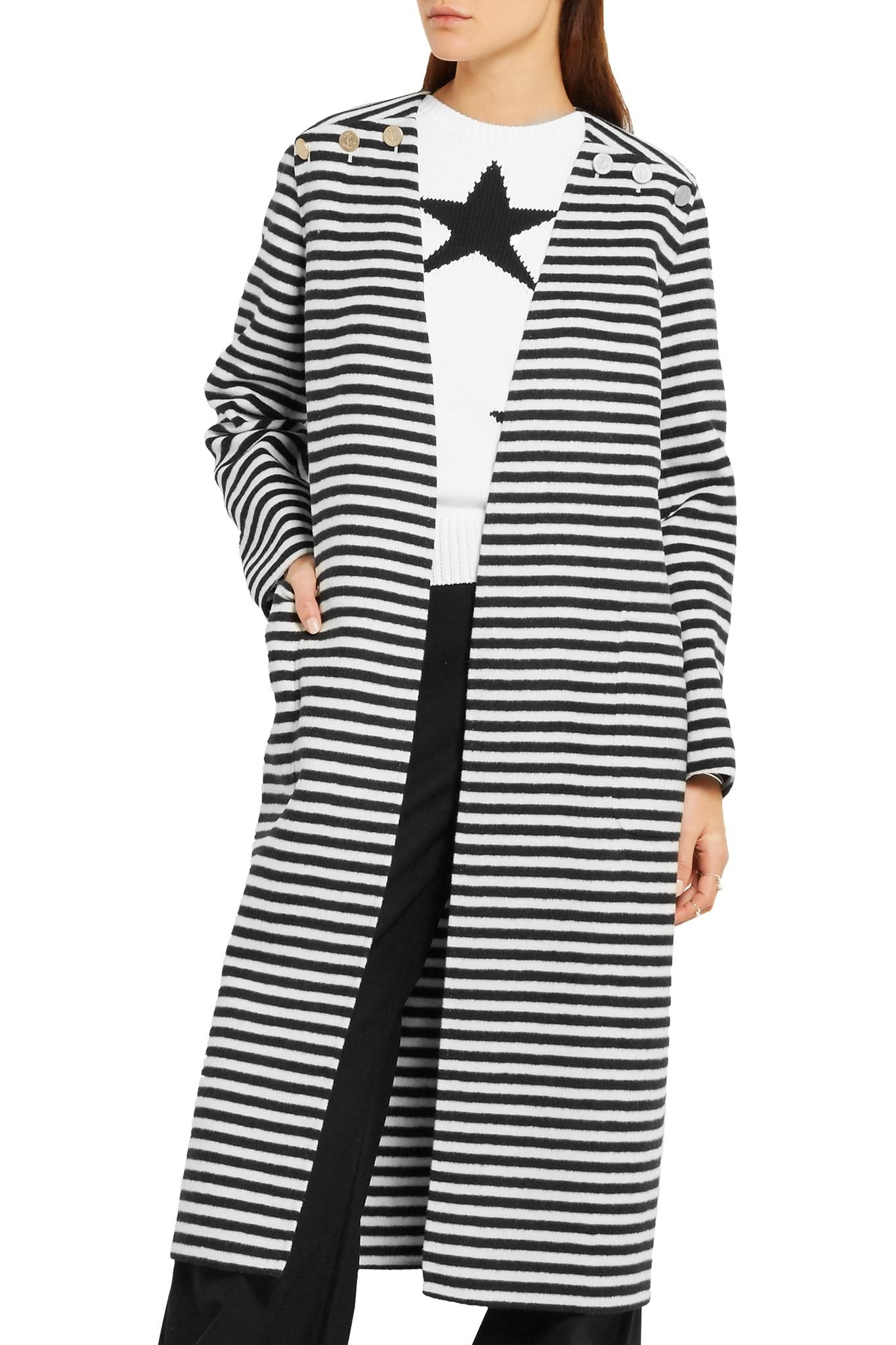Max Mara Striped Wool & Angora Blend Coat