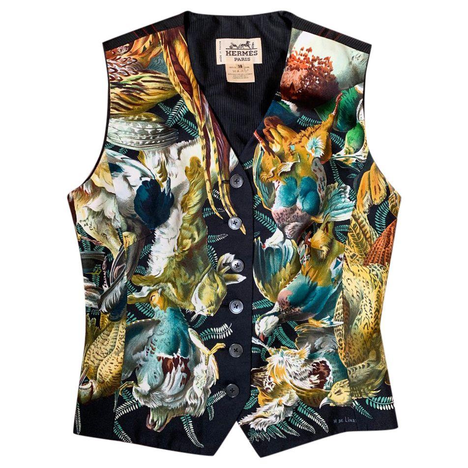 Hermes 'The Return Of The Hunter' Vintage Waistcoat