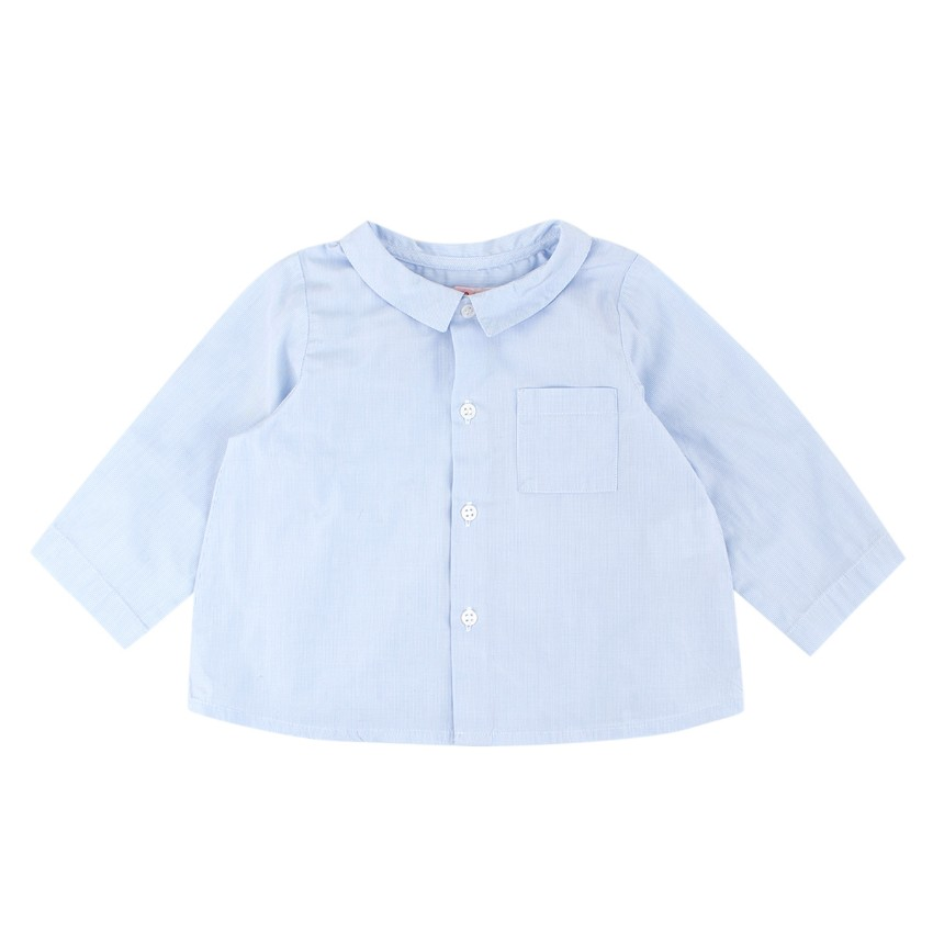 Bonpoint Baby Boy 12M Cotton Blue Shirt
