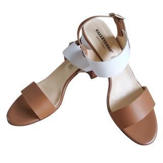 Valleverde Nappa Leather Bi-Colour Sandals