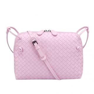 Bottega Veneta Pink Intrecciato Leather Nodini Bag