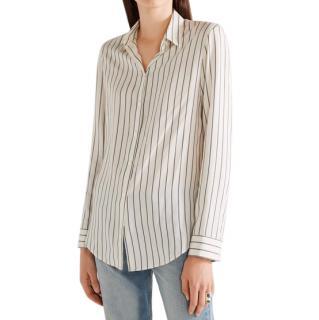 The Row Cream Striped Silk 'Peter' Shirt