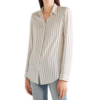 The Row Cream Striped Silk 'Peter' Shirt