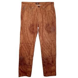 Gianfranco Ferre Python Print Jeans