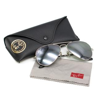 RayBan Silver Metal W3275 Aviator Sunglasses
