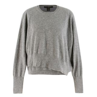 Louis Vuitton Grey Cashmere Asymmetric Jumper