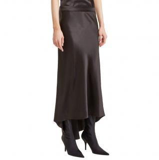 Raey Black Silk Godet Skirt