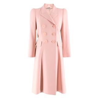 Alexander McQueen Pale Pink Duster Coat