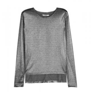 J Brand Metallic Dani Top