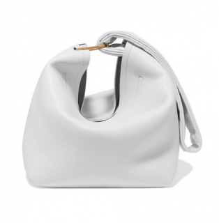 Victoria Beckham White Leather Tissue Clutch Bag