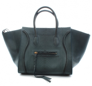 Celine Green Python Phantom Handbag