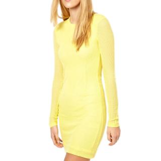 Rag & Bone ribbed yellow dress