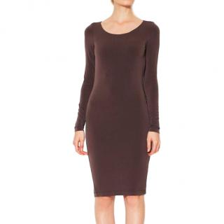 Alice+ Olivia Chocolate Mesh Back Dress