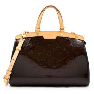 Louis Vuitton Brea MM Amarante Patent Monogram Bag
