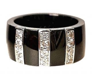 Jeel 0.60ct Diamond Ceramic Band