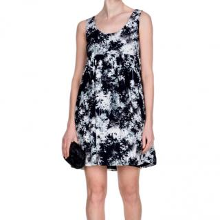 Saint Laurent Palm Tree Print Black & White Dress.